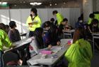 3年生は34名の生徒さんが参加! その分スタッフもたくさんいるんです。