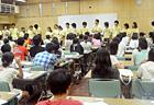 合宿開会式! スタッフも生徒さんもこんなに沢山! 講習の説明とスタッフを紹介します。