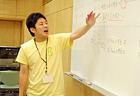 早速授業開始! 毎度お馴染みいっちー先生。 おもしろやさしい数学講師です。