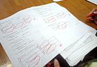 マルがいっぱいの解答用紙! とてもよくできました!!