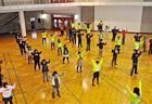 朝の体操はみんな「懐かしい?!」と 言いながら小学生ぶりのラジオ体操。