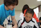 男子生徒さんから人気の高いジョー先生♪厳しく優しい指導でしっかりフォローします。